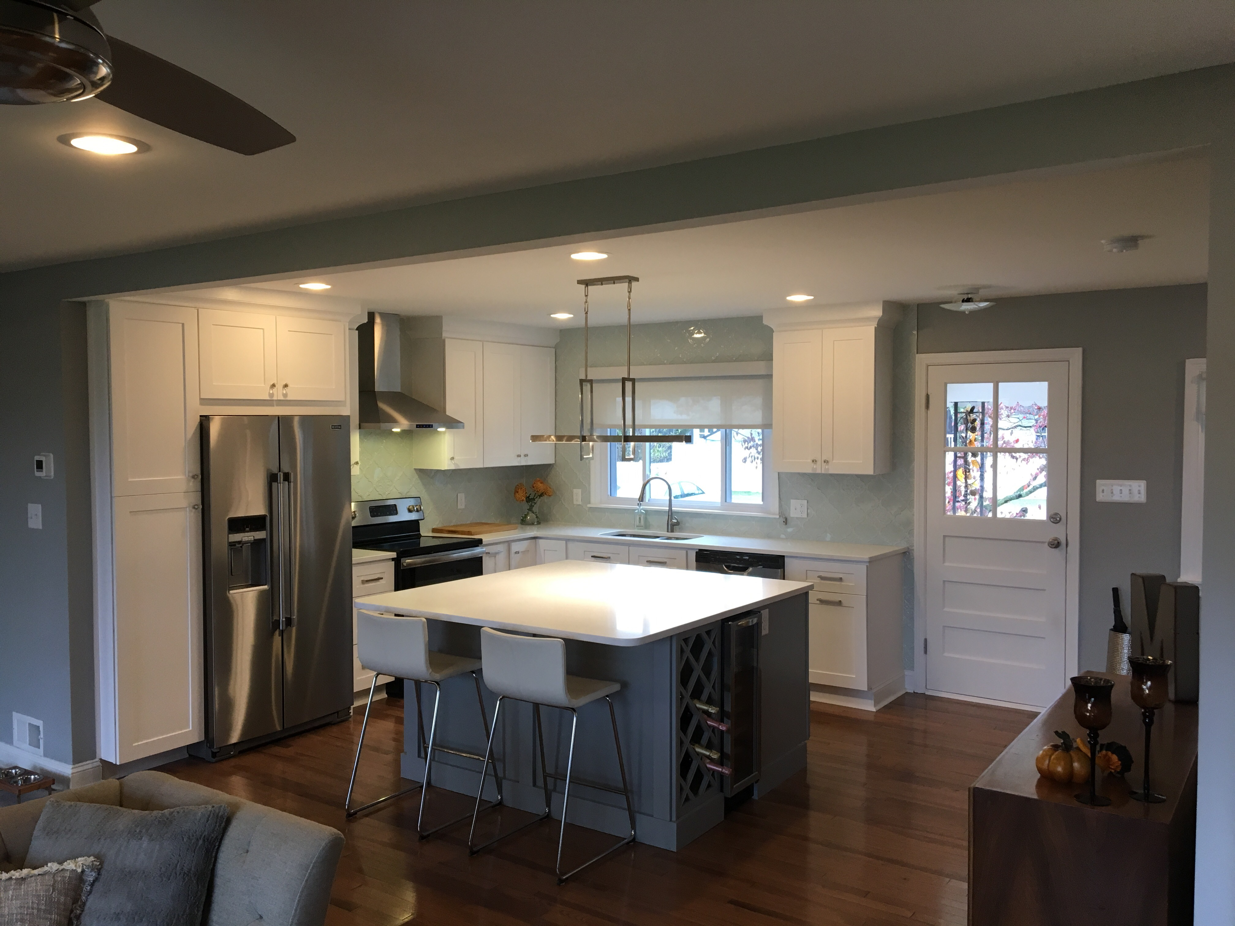 Oddly Enough, One Of My Favorite Features Of The Kitchen Is The Backsplash.  We Went SUPER White Modern (?) With All Of The Finishes.